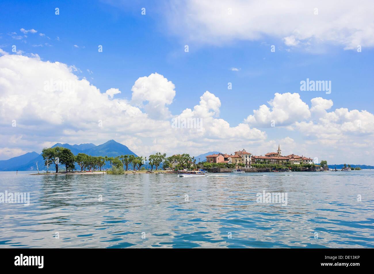 Isola Superiore, Lake Maggiore, Piedmont, Italy, Europe - Stock Image