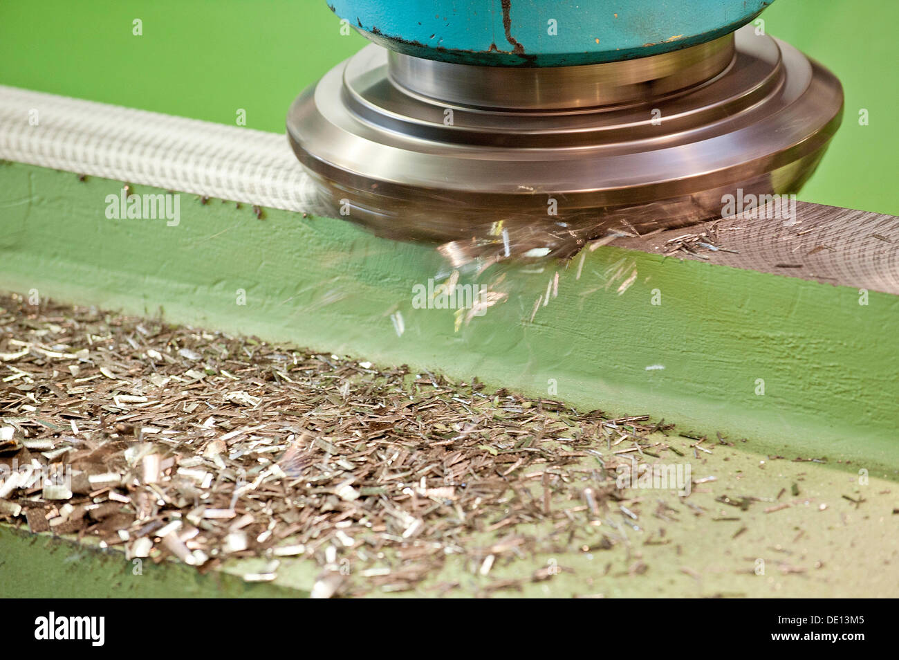 Milling, milling head. metal working, chip removal - Stock Image