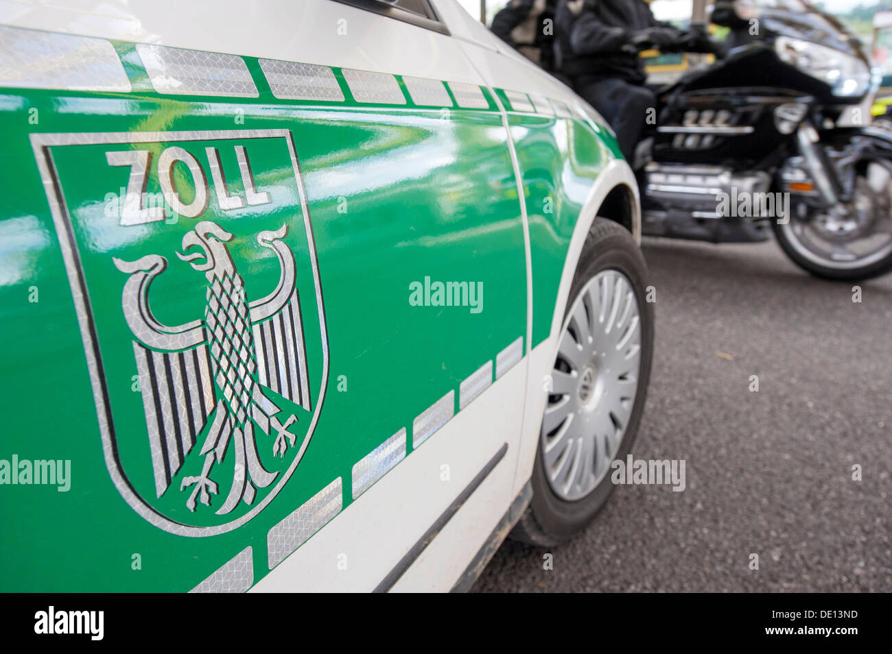 Customs vehicle, Singen central customs office, Bietingen customs office, border crossing between Germany and Switzerland - Stock Image