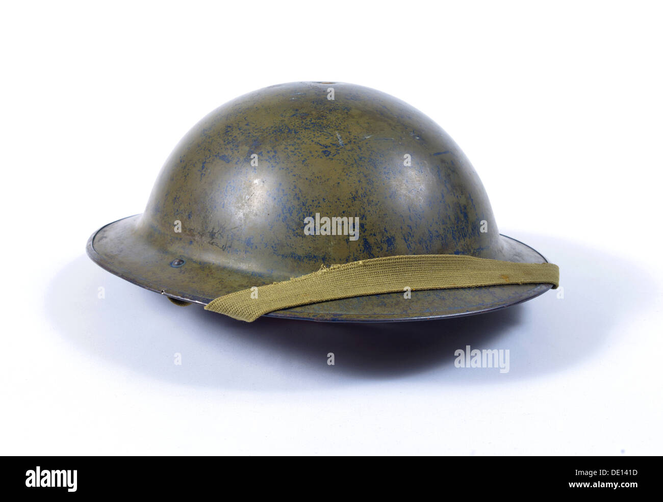 world war two british helmet and strap - Stock Image