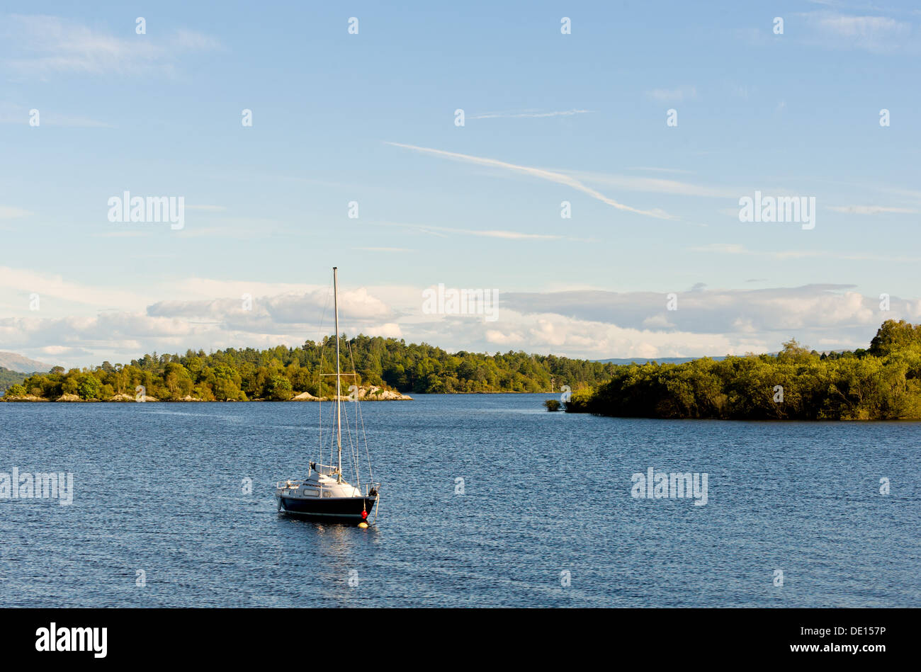 Looking south on Loch Lomond from the village of Luss, Scotland, UK. - Stock Image