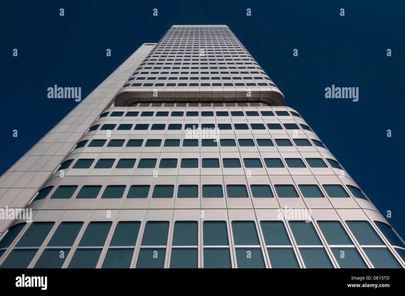 Silberturm or Silver Tower, skyscraper, Bankenviertel, Frankfurt am Main, Hesse, Germany - Stock Image