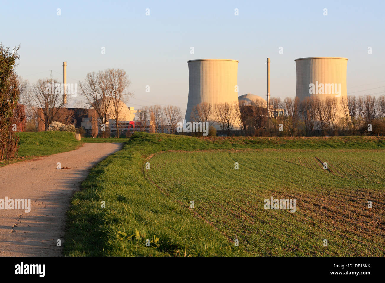 Nuclear power station Biblis, Bergstrasse, Hesse - Stock Image