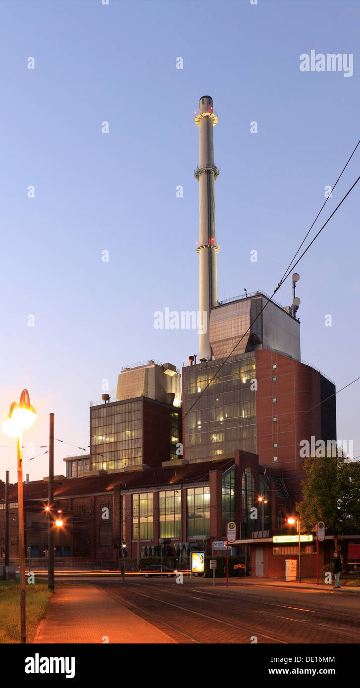 Stadtwerke Karlsruhe, town utilities, West thermal power station, Honsellstrasse, Karlsruhe, Baden-Wuerttemberg - Stock Image