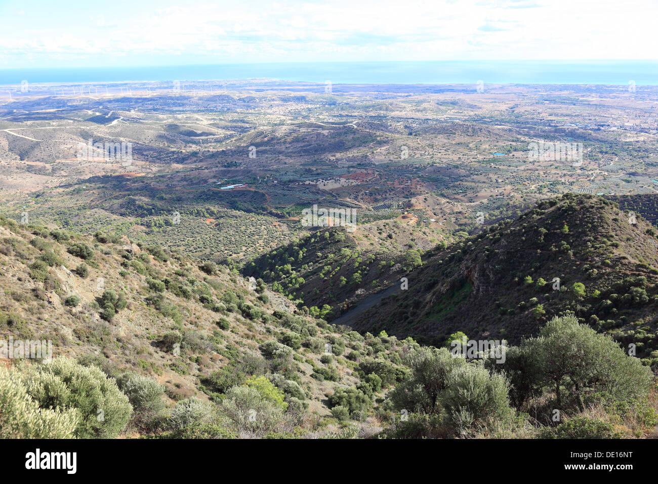 Cyprus, mountainous, hilly landscape at Pyrga - Stock Image