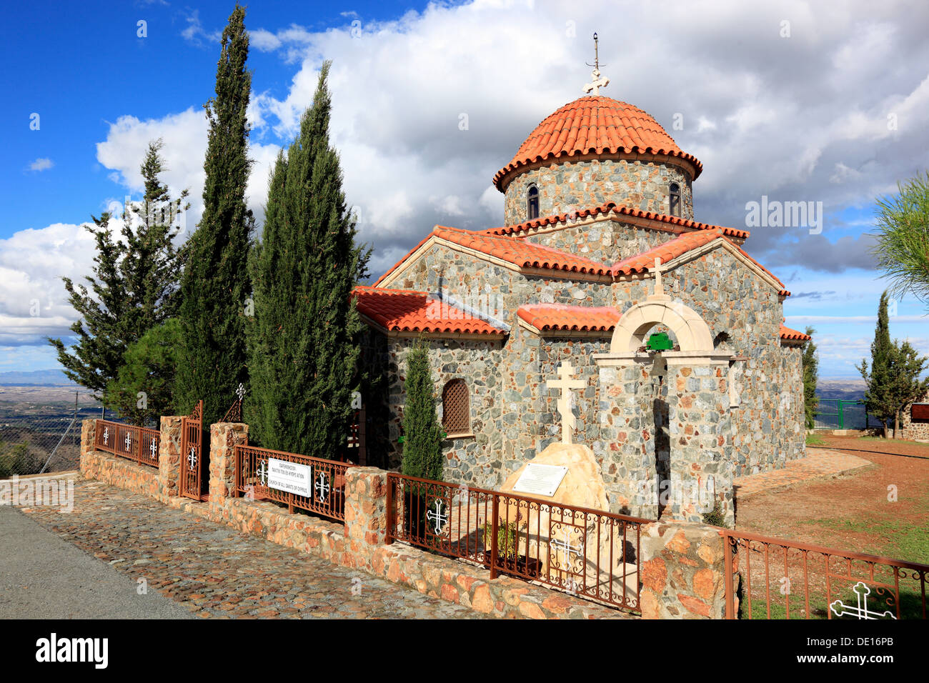 Cyprus, Chapel, Church Of All Saints of Cyprus at the monastery Stavrovouni - Stock Image