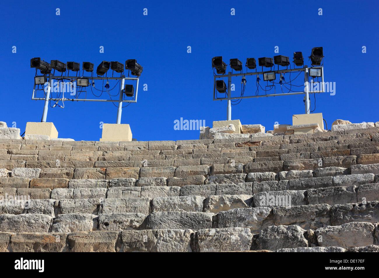 Cyprus, Kourion, Assyrian Ku-ri-i, ancient Greek, Latin, curium, historical, ancient archaeological site, ruins, roman theater - Stock Image
