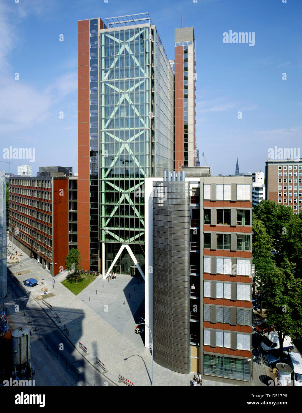 "fice building ""Atlantic Haus"" Hamburg Stock"