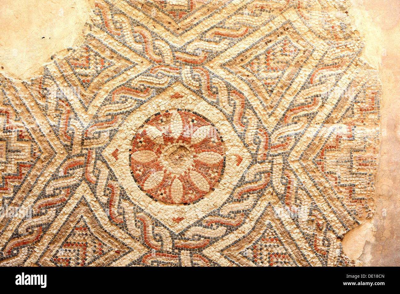 Cyprus, Kourion, Assyrian Ku-ri-i, ancient Greek, Latin, curium, historical, ancient archaeological site, ruins, Mosaic in the H - Stock Image