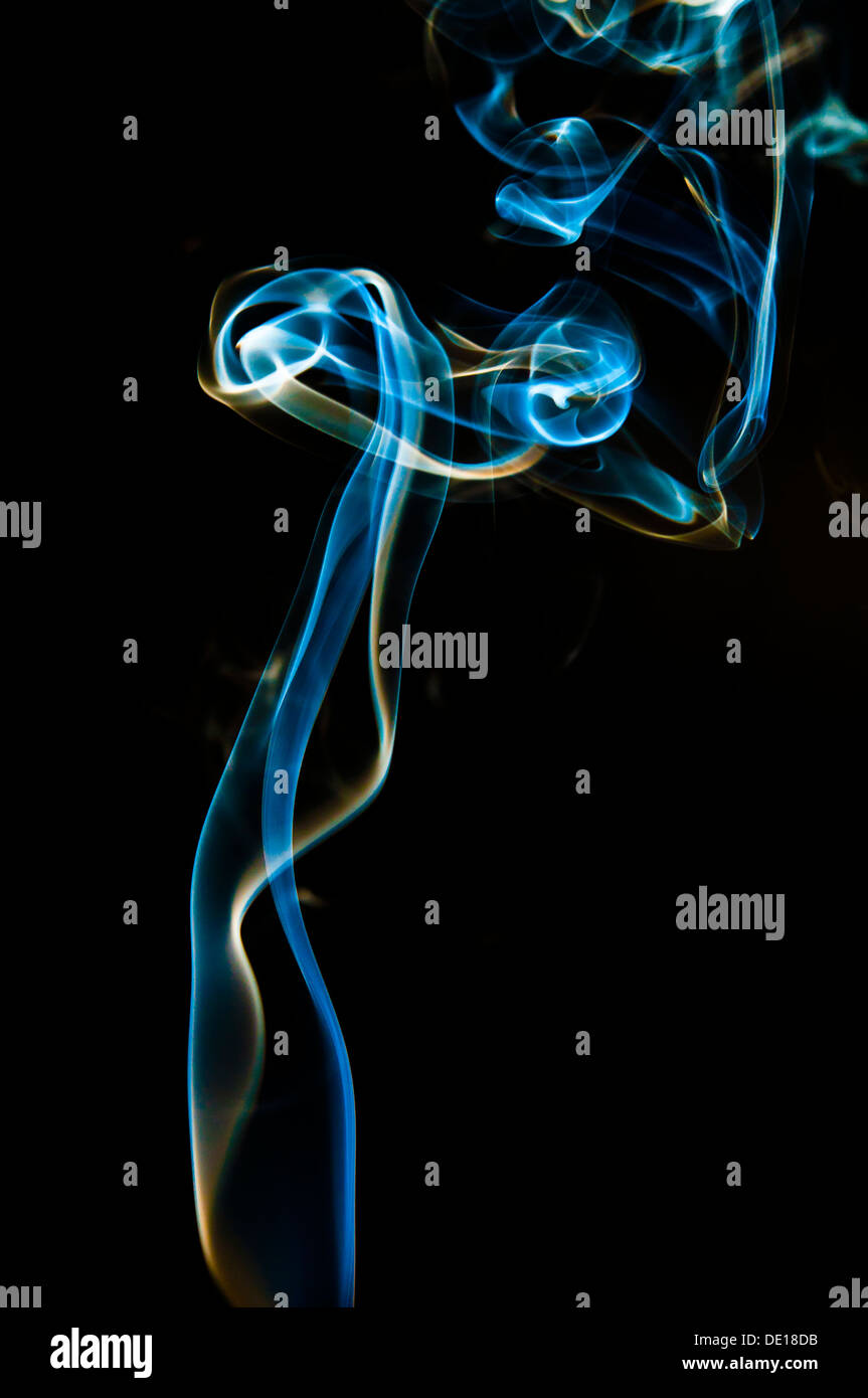 smoke swirl - Stock Image