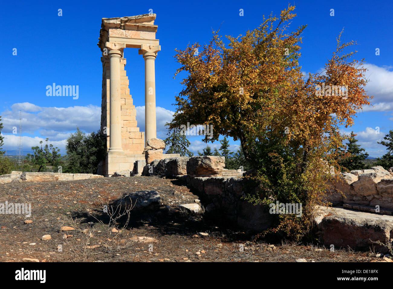 Cyprus, Kourion, Assyrian Ku-ri-i, ancient Greek, Latin curium Hylates sanctuary of Apollo, remains of Hylatesheiligtums, histor - Stock Image