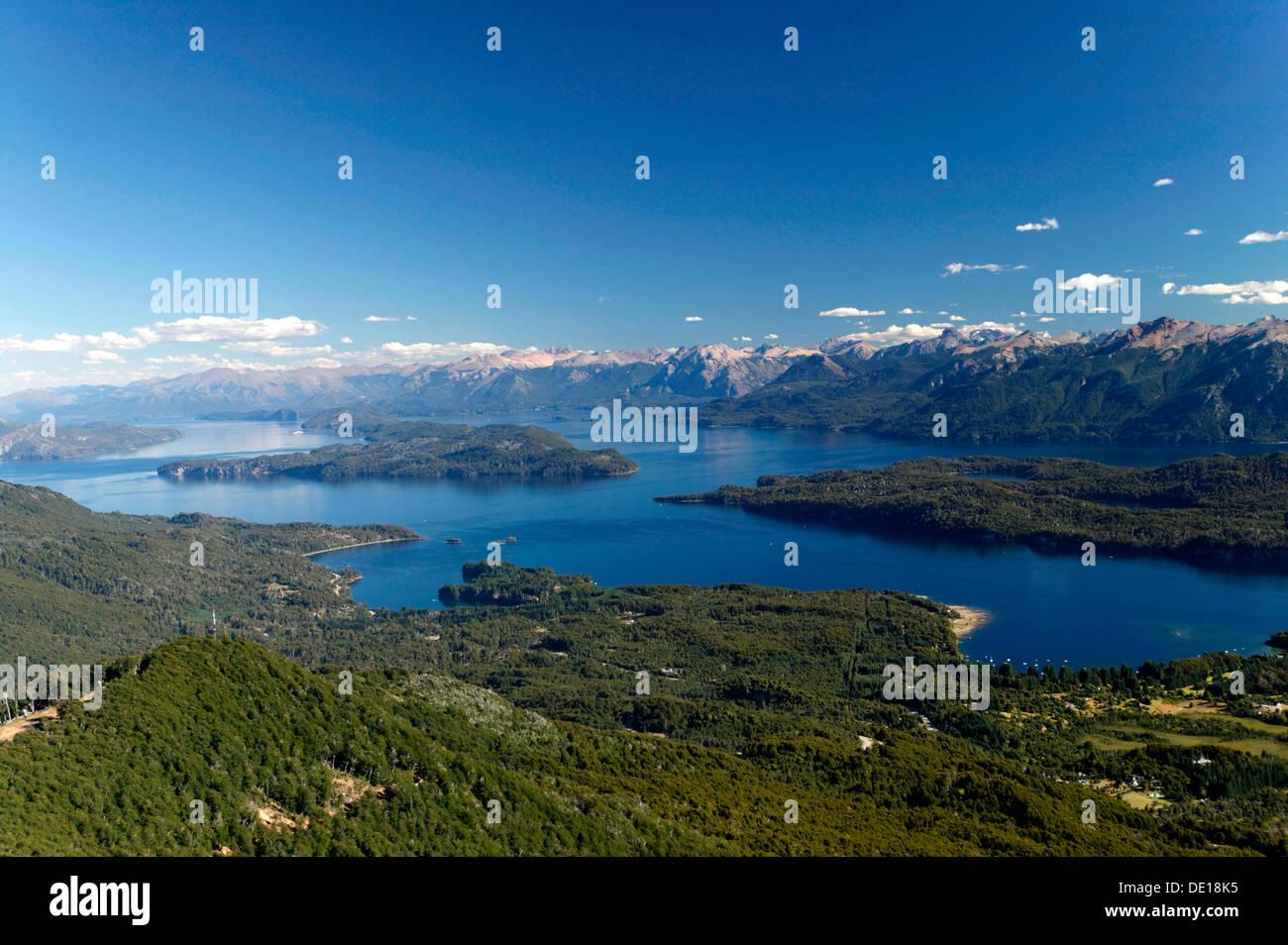 Lake Nahuel Huapi, Nahuel Huapi National Park, lake region of northern Patagonia, Argentina, South America - Stock Image