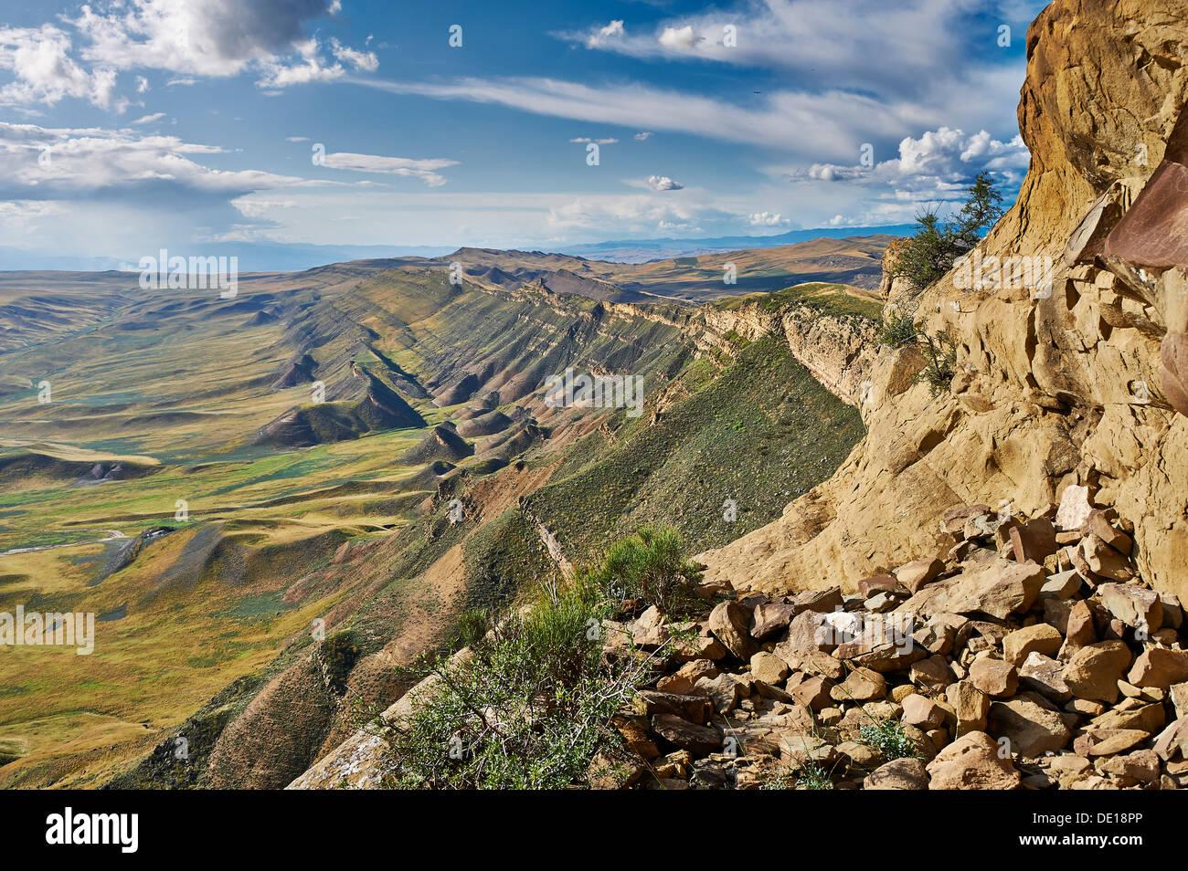 Deserted Landscape At The Azerbaijan Border David Gareja Georgia Stock Photo Alamy