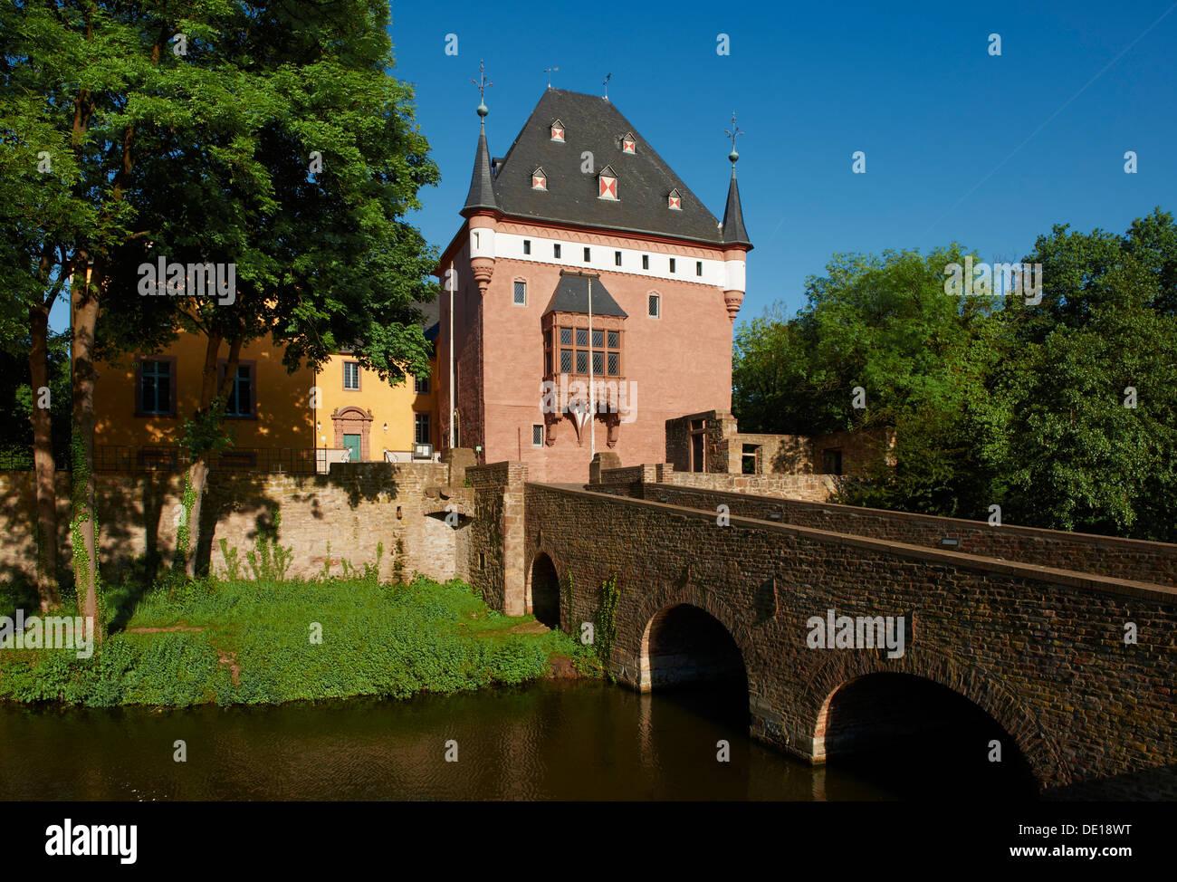 Burgau castle, Dueren, North Rhine-Westphalia, Germany Stock Photo