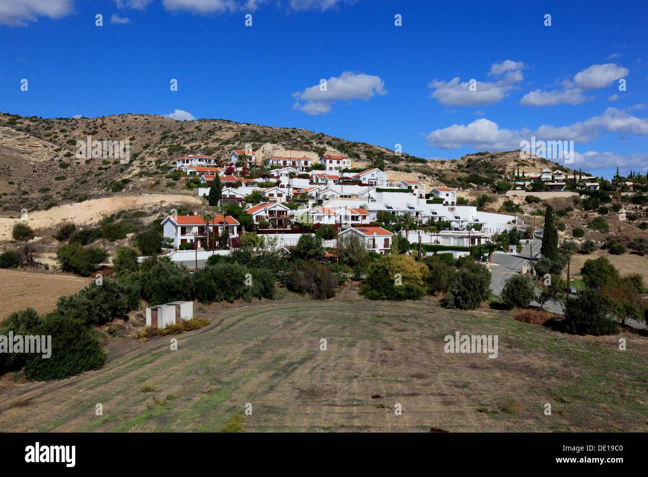 Cyprus, Pissouri, new estate, apartments - Stock Image