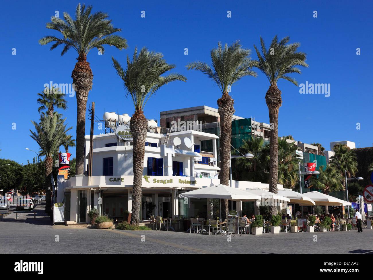 Cyprus, Pafos town, Gazibaf, downtown, pedestrian - Stock Image