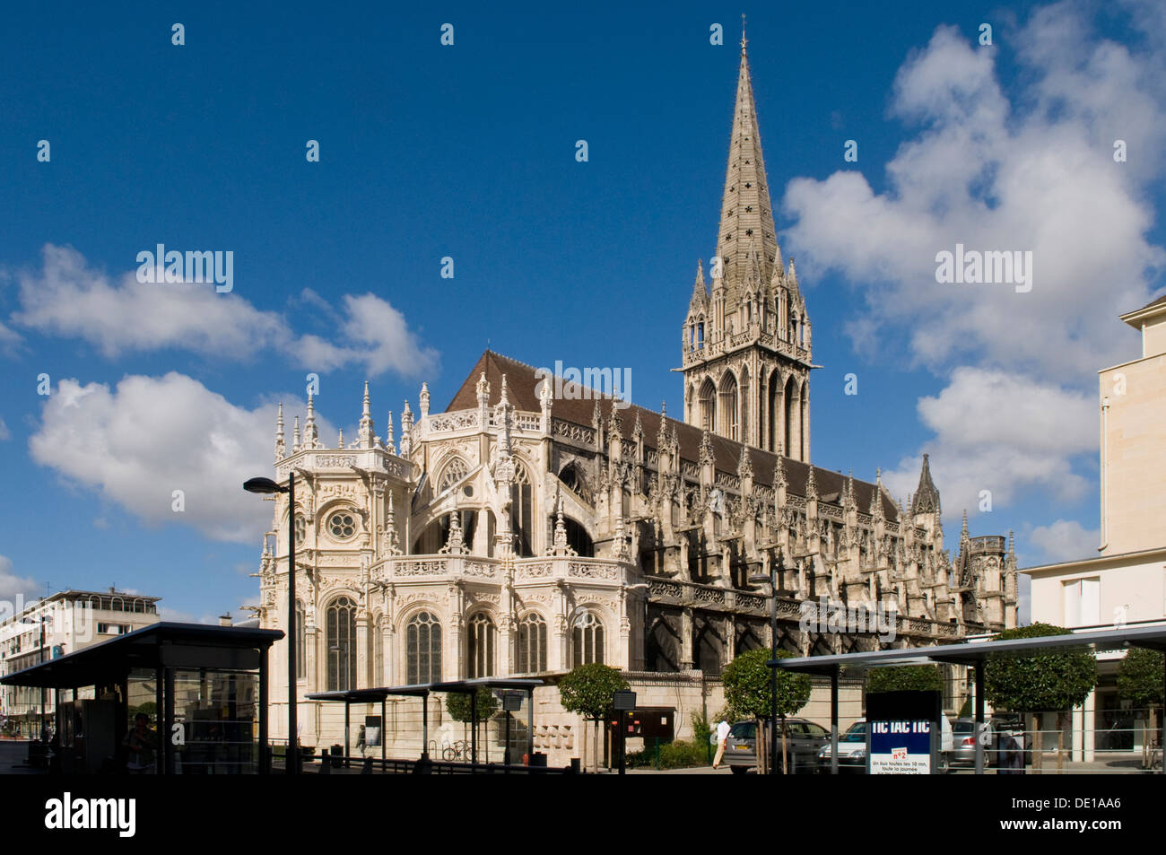 Church of St Pierre, Caen, Normandy, France - Stock Image