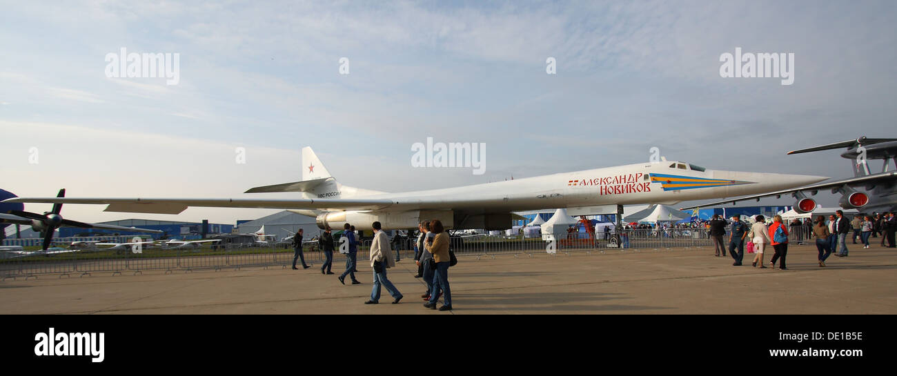 Tupolev Tu-160 at the MAKS-2013 - Stock Image