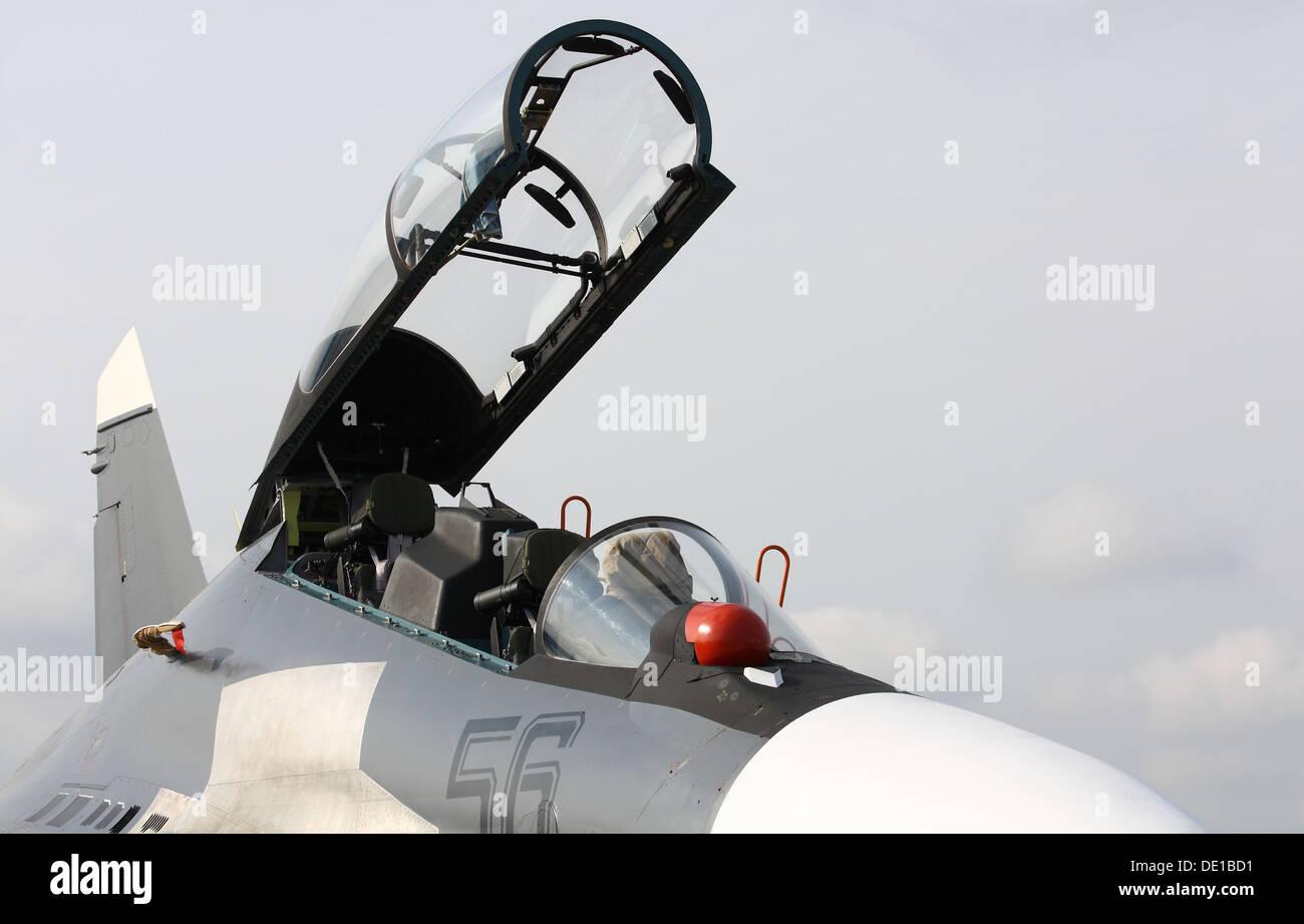 Fighter Su-30SM Flanker-C - Stock Image