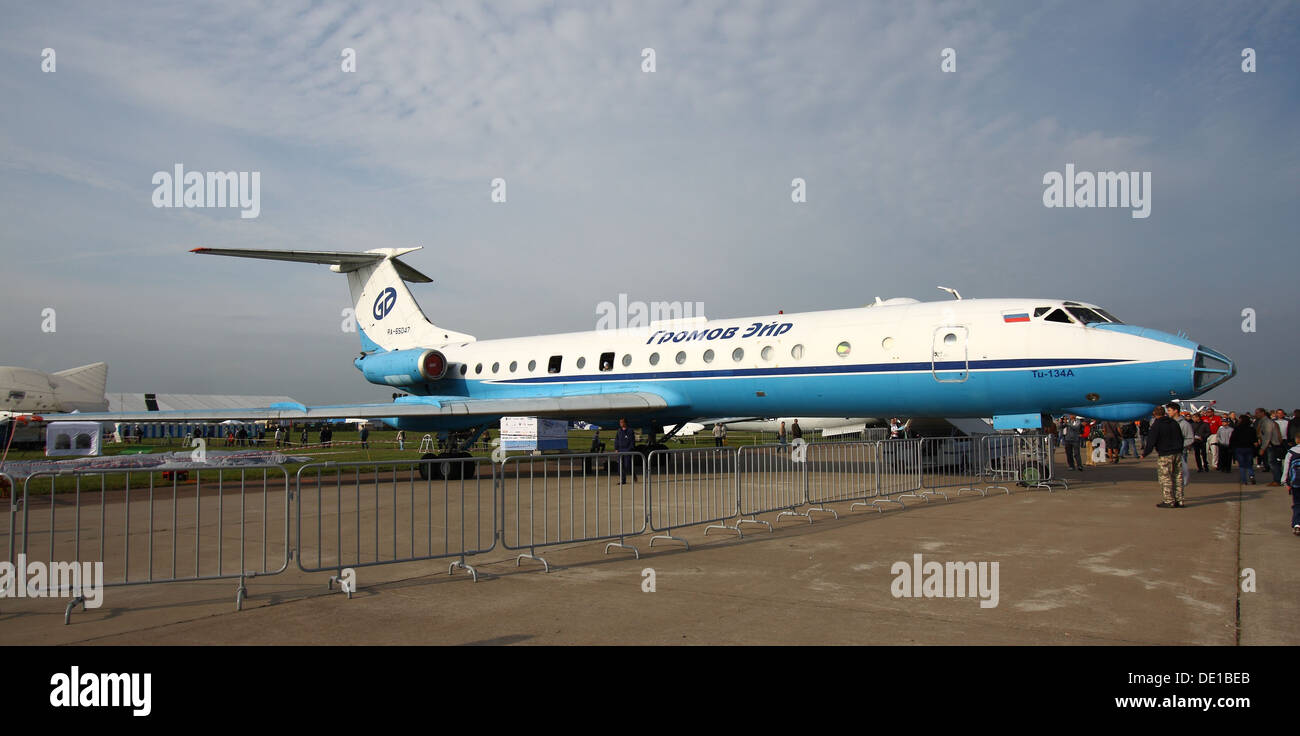 Tupolev Tu-134A at the MAKS-2013 - Stock Image