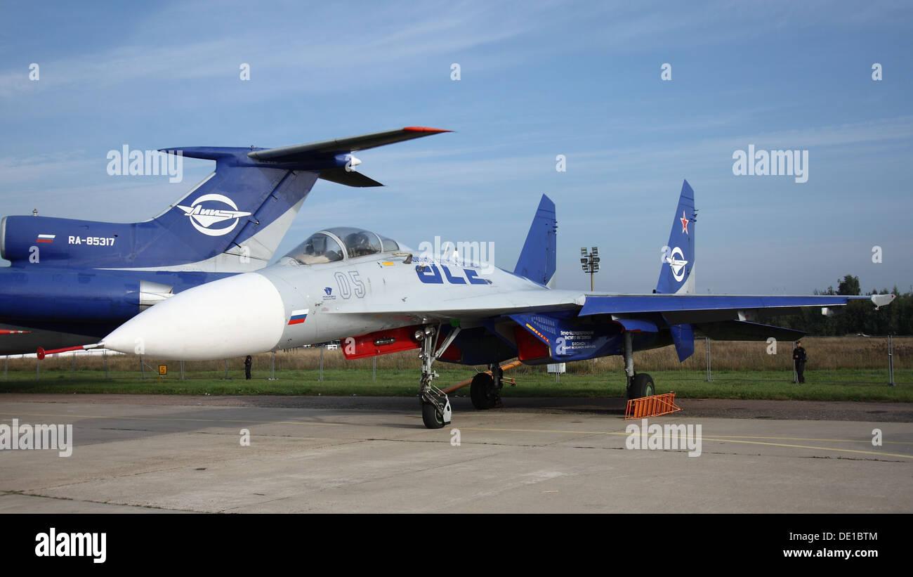 Flying laboratory Su-27LL Flanker - Stock Image