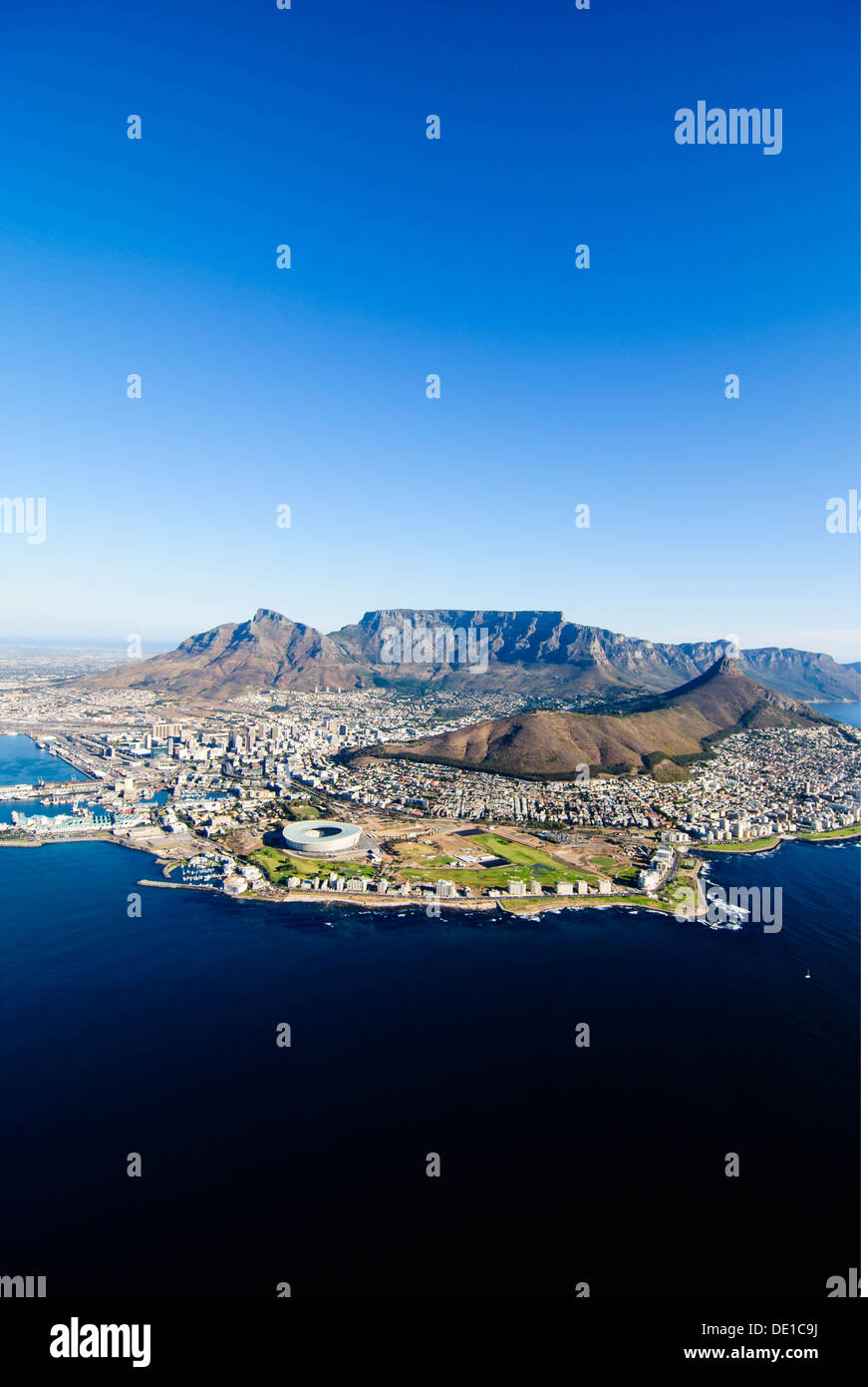geography / travel, South Africa, Cape Town, aerial photograph, Additional-Rights-Clearance-Info-Not-Available - Stock Image