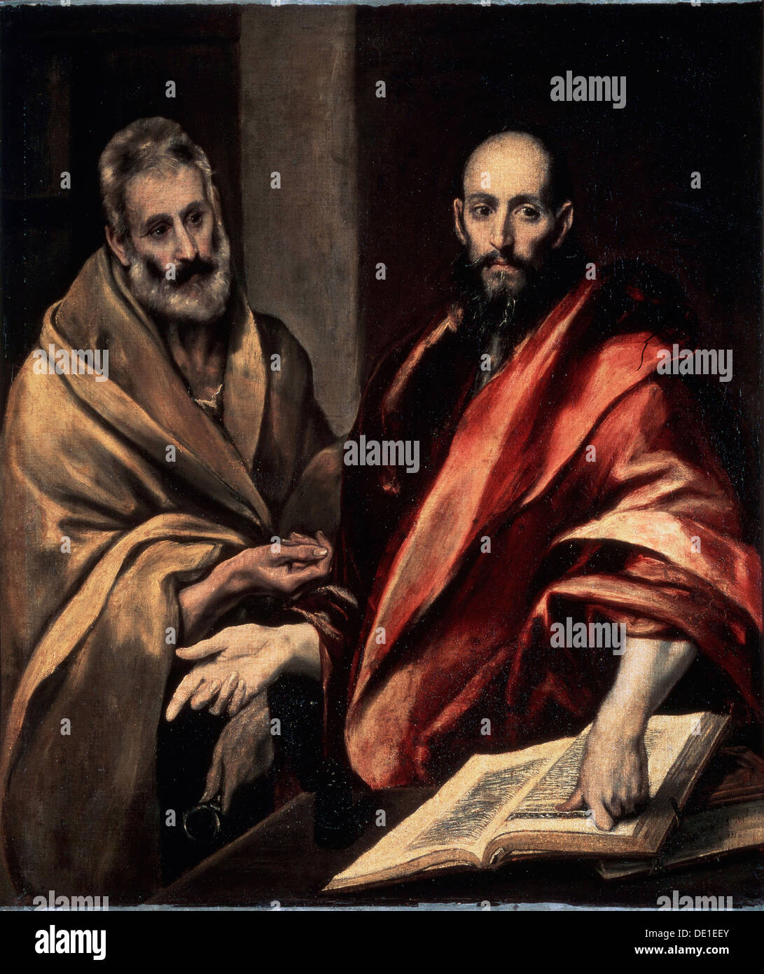 'The Apostles St. Peter and St. Paul', 1587-1592.  Artist: El Greco - Stock Image