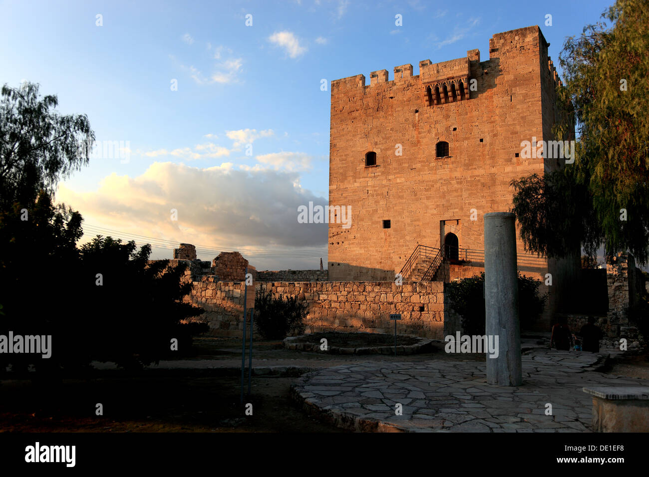 Cyprus Kolossi Castle is a stronghold outside the city of Limassol, Lemesos, Limassol, built in 121 - Stock Image