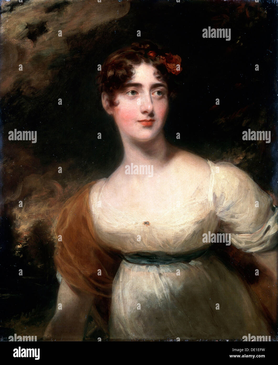 'Portrait of Milady Emily Harriet Wellesley-Pole (Lady Raglan)', 1814.  Artist: Thomas Lawrence - Stock Image