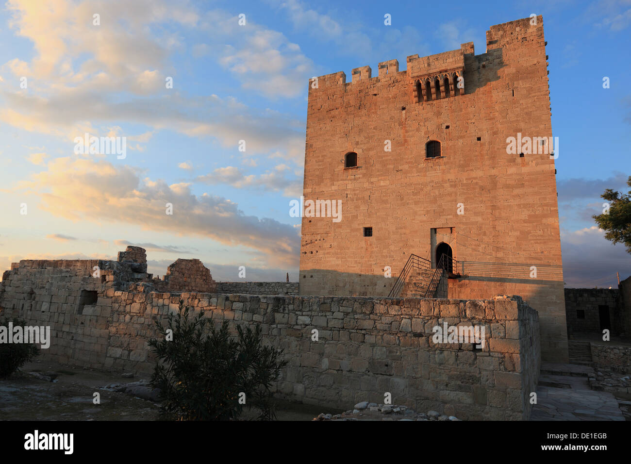 Cyprus Kolossi Castle is a stronghold outside the city of Limassol, Lemesos, Limassol, built in 1210 - Stock Image