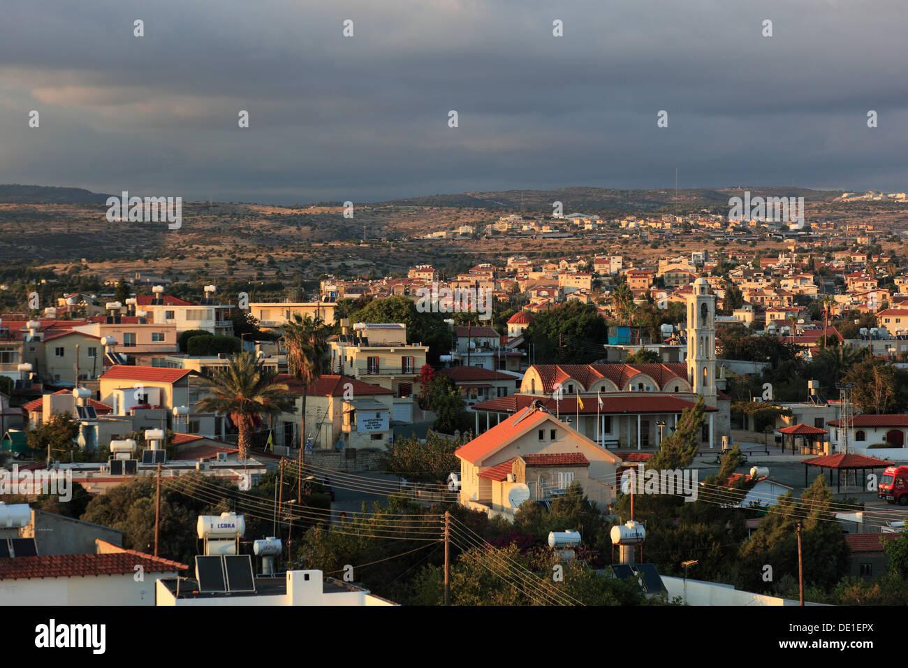 Cyprus, overlooking the town of Limassol, Lemesos, Limassol, - Stock Image