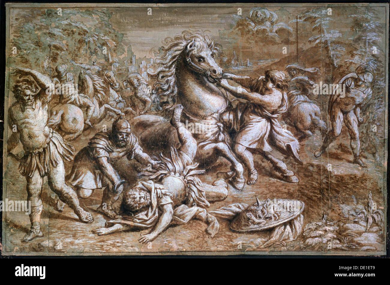 The Conversion of Saint Paul', 17th century. Artist: Pietro da Cortona - Stock Image