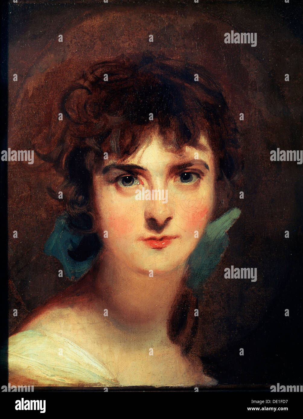 'Portrait of Sally Siddons', early 19th century. Artist: Thomas Lawrence - Stock Image