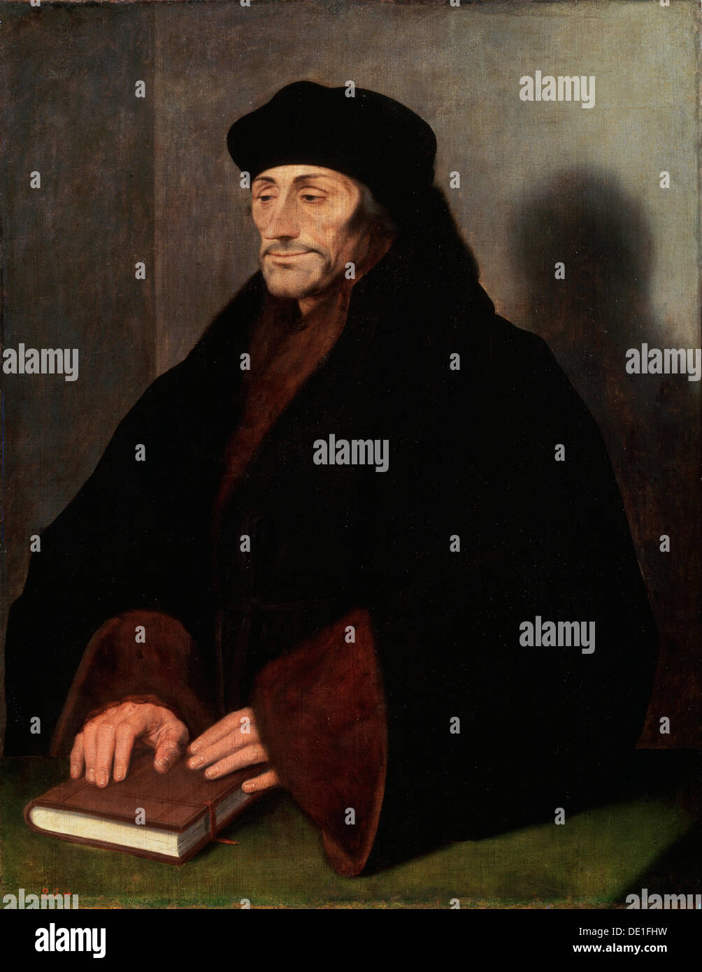 'Portrait of Erasmus of Rotterdam', (1466/69-1536), 1523. Artist: Hans Holbein the Younger - Stock Image