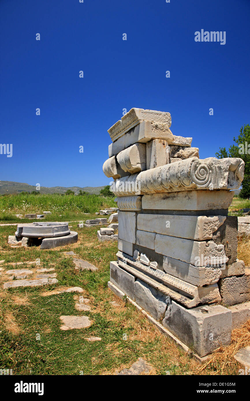 The altar of goddess Hera at the archaeological site of Heraion, Samos island, Greece Stock Photo