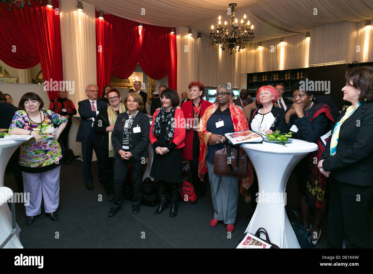 Leipzig, Germany, receiving 20 years women's organization of the Party of European Socialists (PES ) - Stock Image