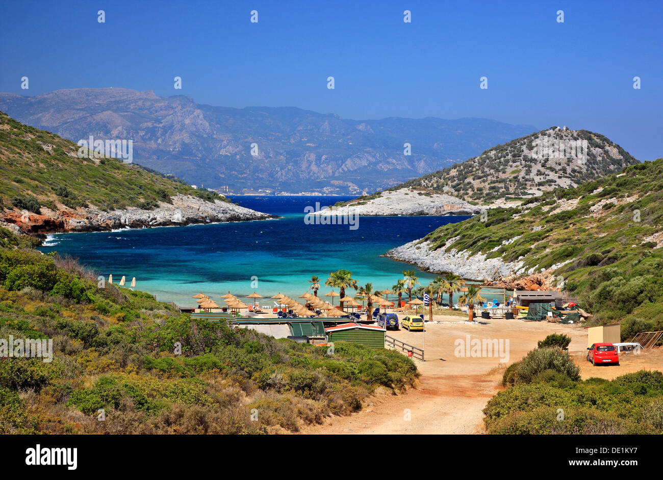 Livadaki Beach Quot Nisi Quot Area Samos Island Greece Stock