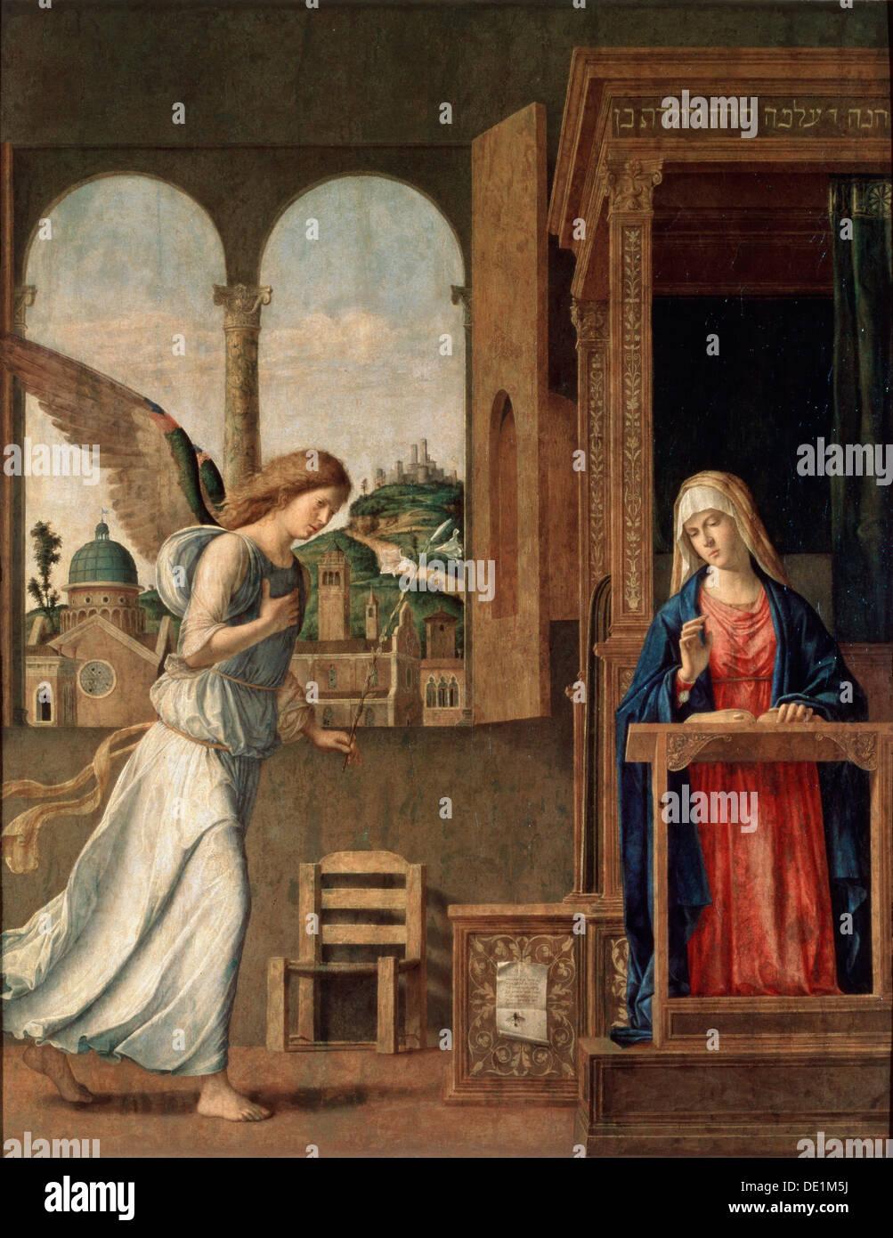 'The Annunciation', 1495.  Artist: Giovanni Battista Cima da Conegliano - Stock Image