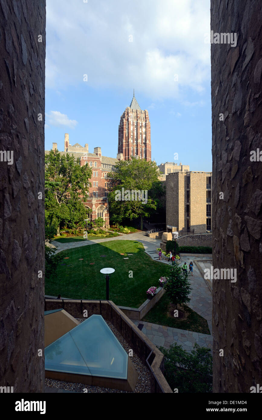 Yale University campus. Morse Residential colllege. - Stock Image