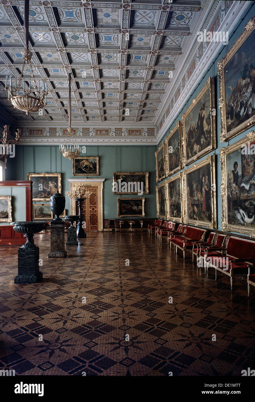 'The Hall of Flemish Paintings in the Hermitage' c20th century. - Stock Image
