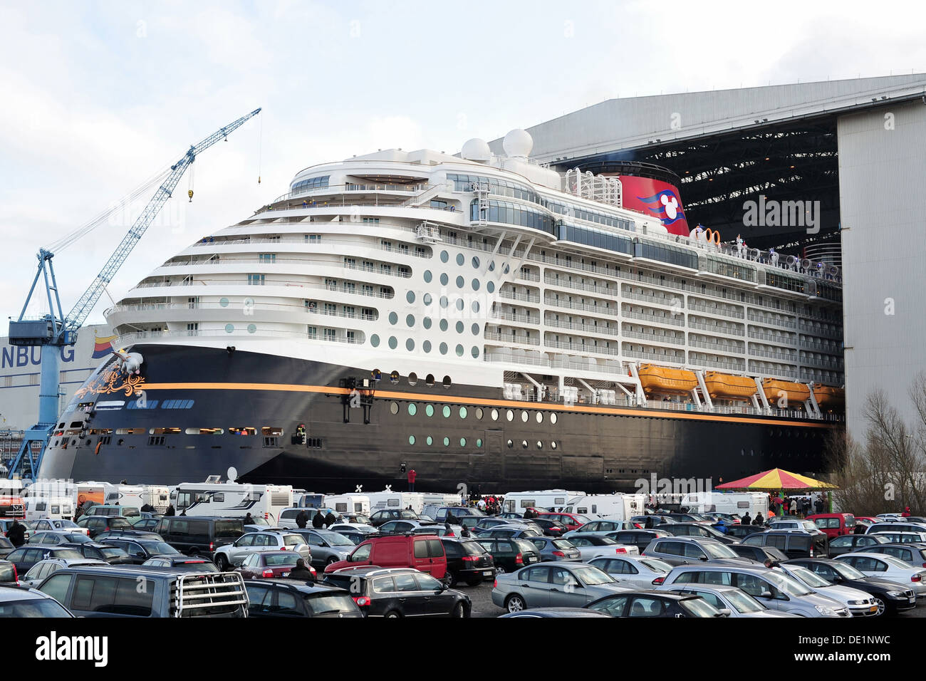 papenburg germany cruise ship disney fantasy at the meyer shipyard stock photo 60275416 alamy. Black Bedroom Furniture Sets. Home Design Ideas