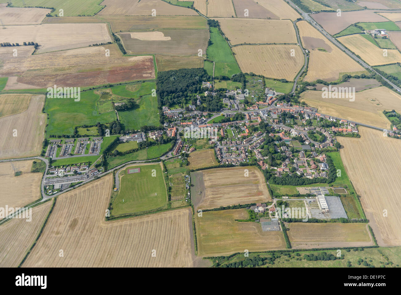 Aerial photograph of Greatham Teeside - Stock Image