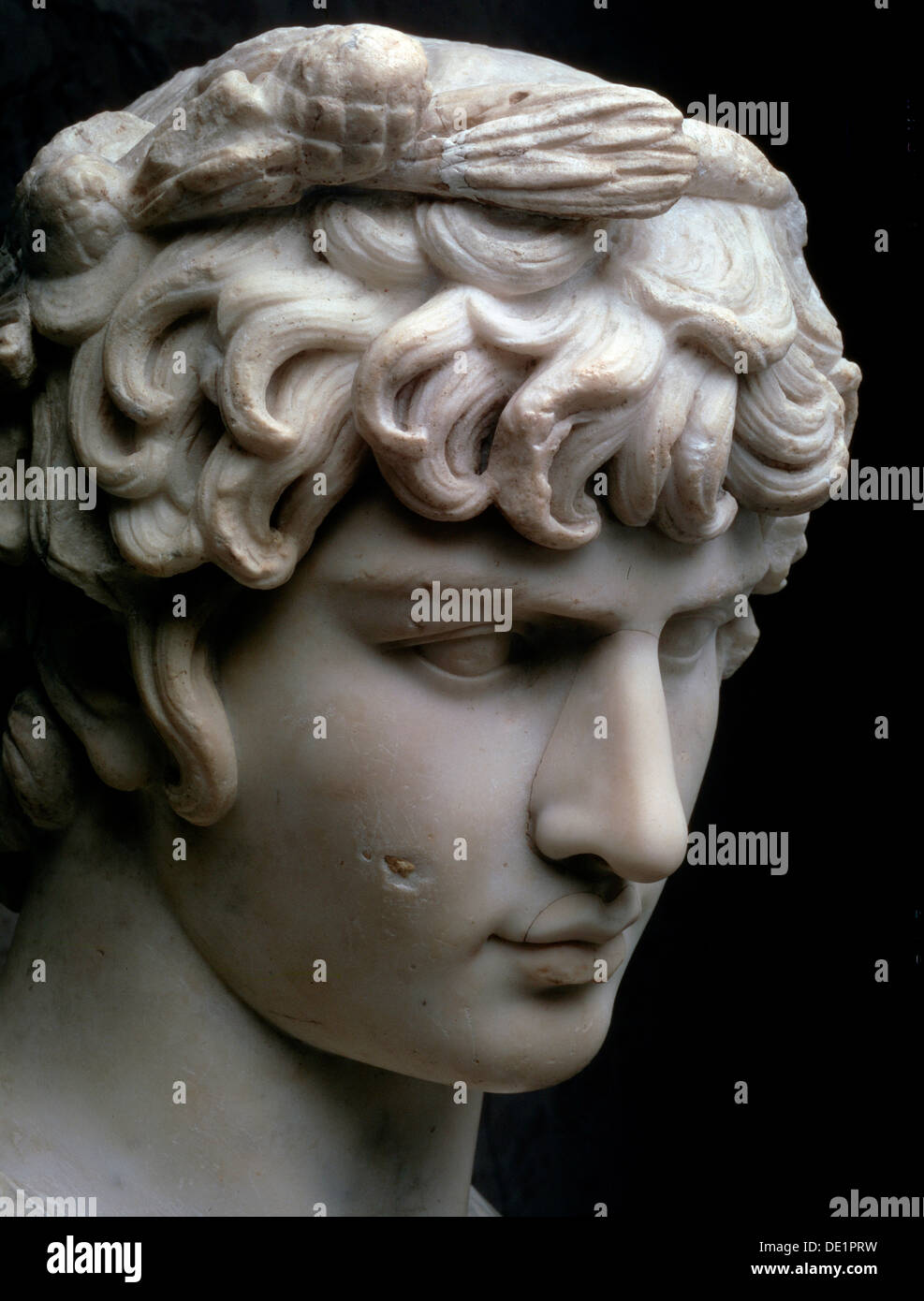 'Bust of Antinous', mid 2nd century AD. - Stock Image