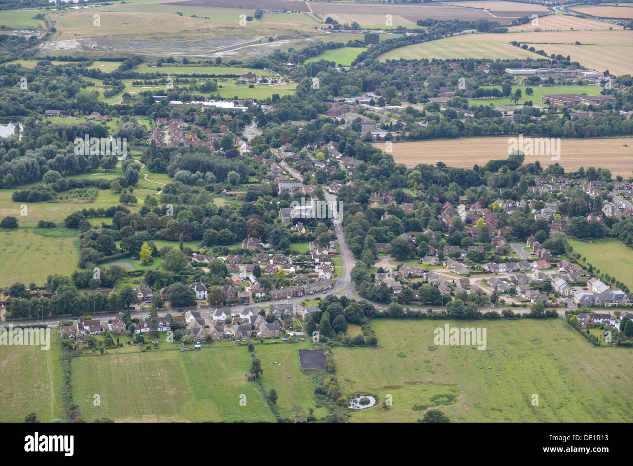 Aerial photograph of Brampton - Stock Image