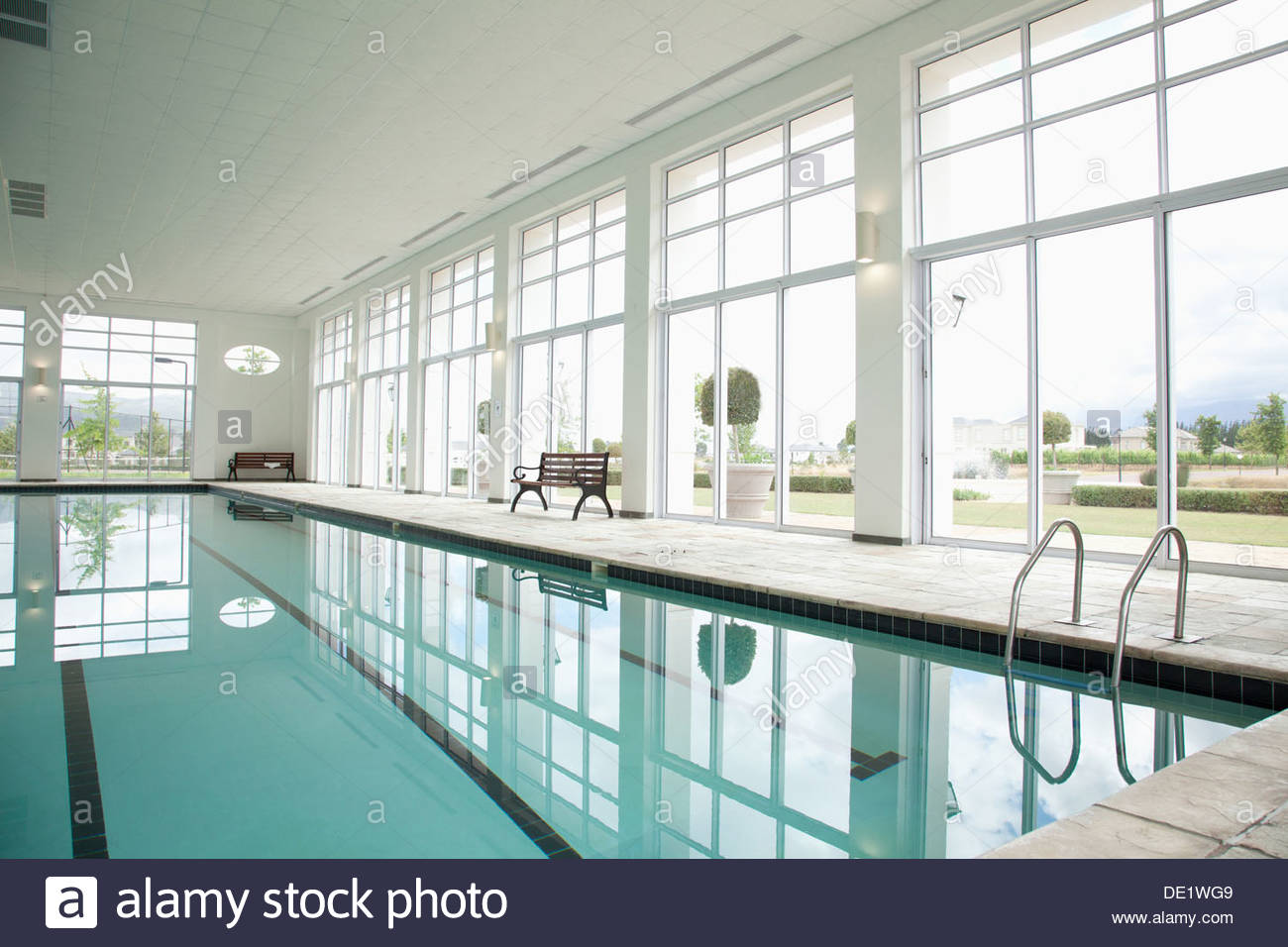Indoor swimming pool - Stock Image