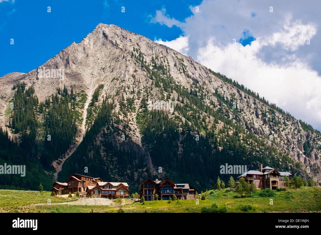 Mt  Crested Butte ski resort, near Crested Butte, Colorado USA - Stock Image