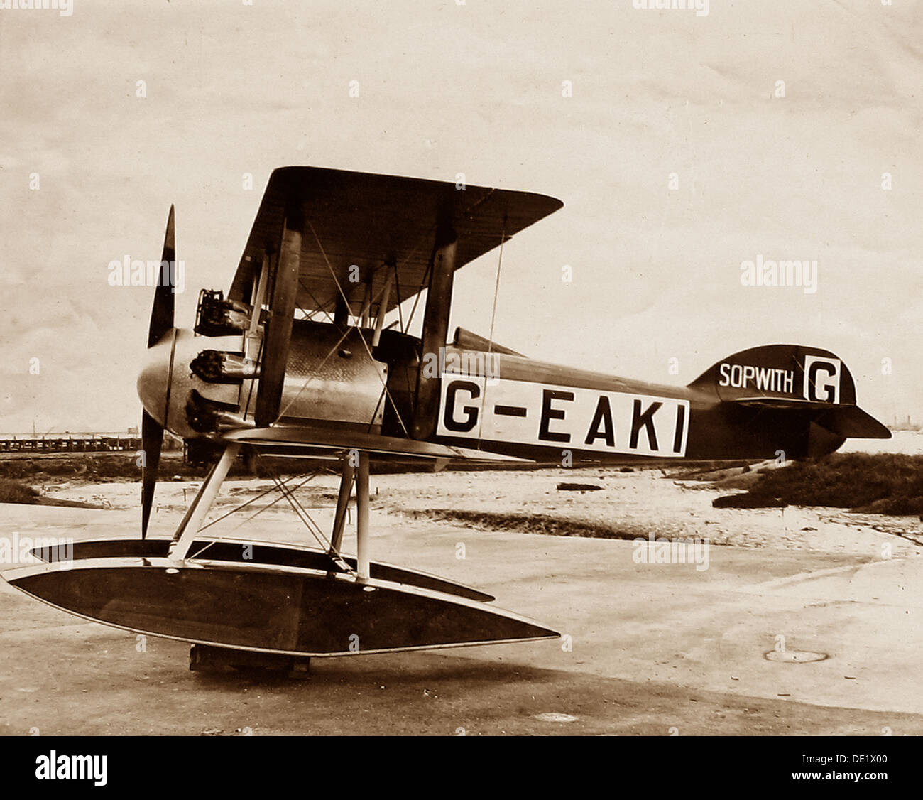 Sopwith biplane Schneider Cup in 1919 - Stock Image