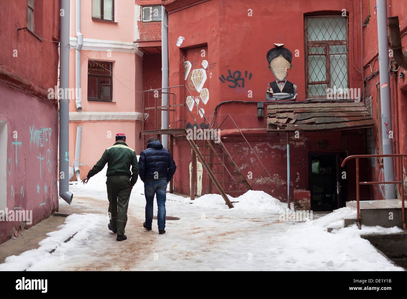 street scene in Minsk - Stock Image