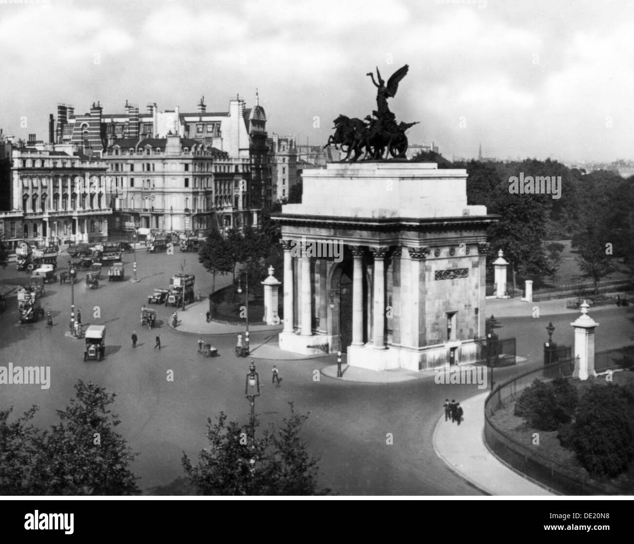 geography / travel, Great Britain, London, Wellington Arch, Hyde Park Corner, view, circa 1930, Additional-Rights-Clearences-NA - Stock Image
