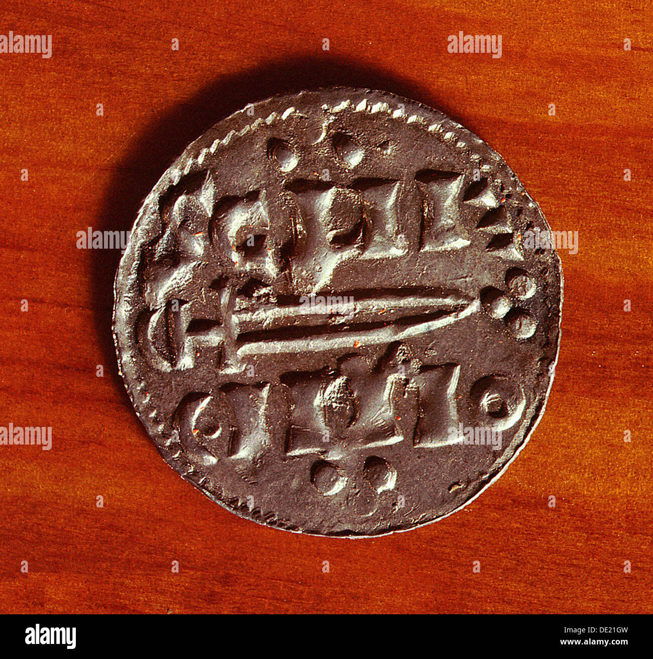 Obverse Of A Silver Penny The Viking Kingdom York St Peter Sword Type